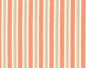 California Girl---Bermuda Ticking in Coral--1 yard--Fig Tree Quilts for Moda Fabrics