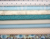 fat eighth bundle (wintery blues)--misc. designers--8 pieces--1 yard total
