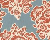 SALE---1 yard---Fresh Cut Flowers in Paprika, Secret Garden, Sandi Henderson, Michael Miller Fabrics
