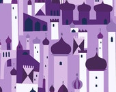 SALE---1 yard--Royal City in Persian Purple, 1001 Peeps, Lizzy House for Andover Fabrics