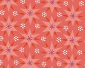 SALE---1 yard--Sheherazade in Jinnee Orange, 1001 Peeps, Lizzy House for Andover Fabrics