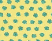 SALE--1 yard---Lisa in Yellow, Poodle, Jennifer Paganelli for Free Spirit Fabrics