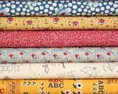 School Days half yard bundle--6 pieces---3 yards total--American Jane for Moda Fabrics