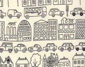 Summersville---Metro Novelty Town  in Black---1 yard--Lucie Summers for Moda Fabrics