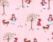 A Walk in the Woods---Red Riding Hood in Whisper--1 yard--Aneela Hoey for Moda Fabrics