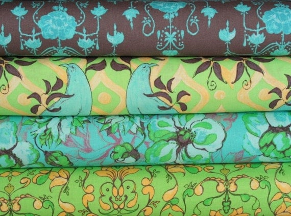 SALE---fabric bundle--4 one-half yard pieces (2 yards total) from the Olivia's Holiday Collection, Tina Givens, Free Spirit Fabrics