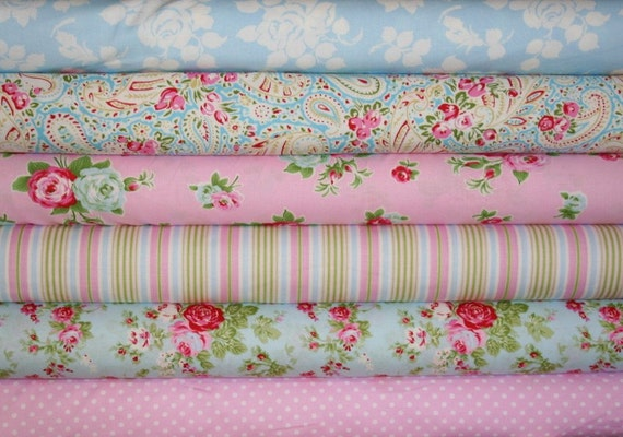 fabric bundle--6 one-half yard pieces (3 yards total) from the Delilah Collection, Tanya Whelan for Free Spirit Fabrics