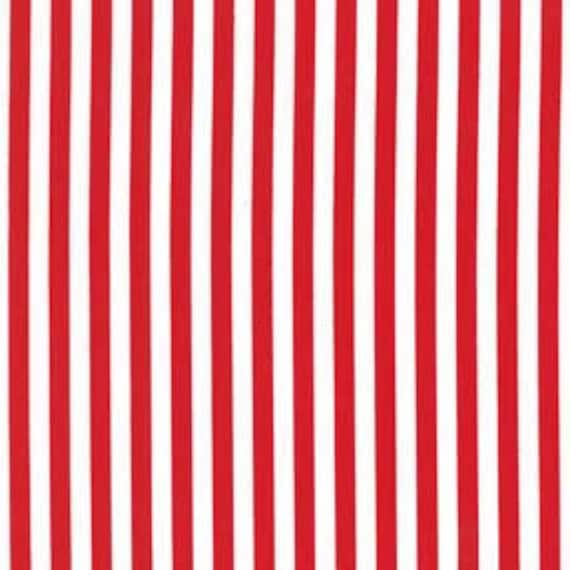 Clown Stripe--Red--1 yard----Michael Miller Fabrics
