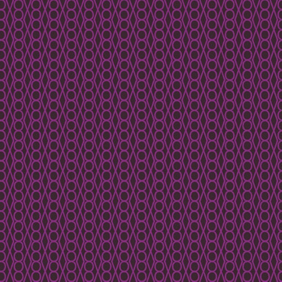 1 yard---Purple Jewel in Outsmarted, Outfoxed, Lizzy House, Andover Fabrics