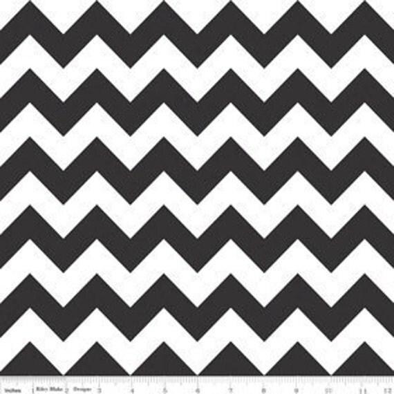 Chevron in Black---1 yard---Riley Blake Fabrics