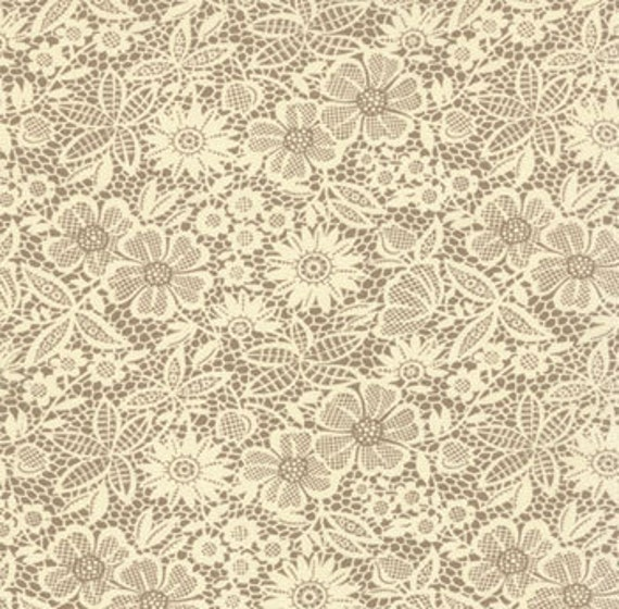 urban cowgirl--lace in mud--1 yard--urban chiks by moda fabrics