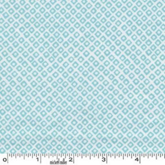 1 yard---Dot n' Square in Aqua,  Mini Mike's, Michael Miller Fabrics