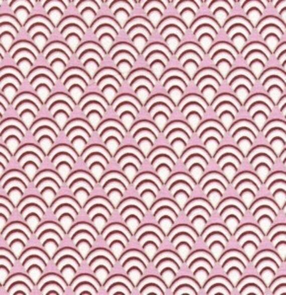 SALE---1 yard---Deco Fans in Lavender, Dolce, Tanya Whelan and Grand Revival Design, Free Spirit Fabrics