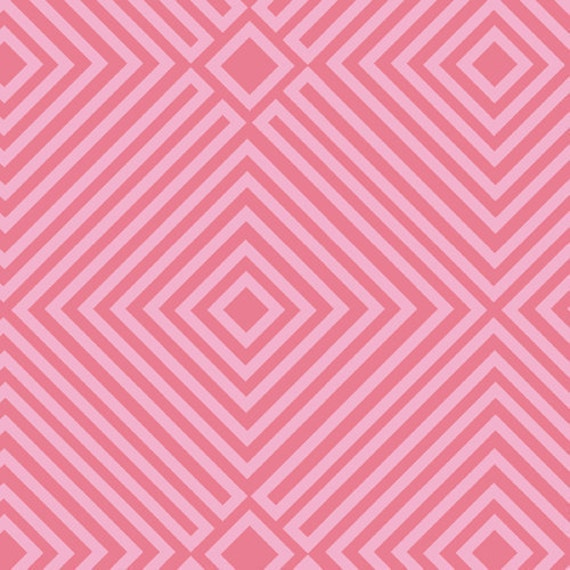 SALE---1 yard--Illusion in Pink, 1001 Peeps, Lizzy House for Andover Fabrics