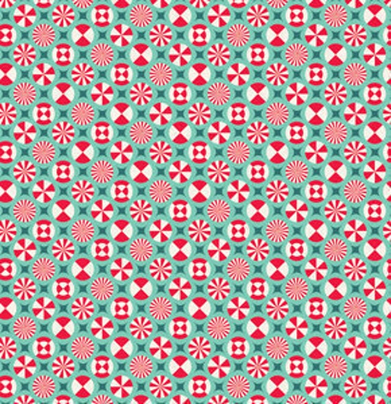 SALE--1 yard---Taffy in Aqua, Prince Charming, Tula Pink, Free Spirit Fabrics