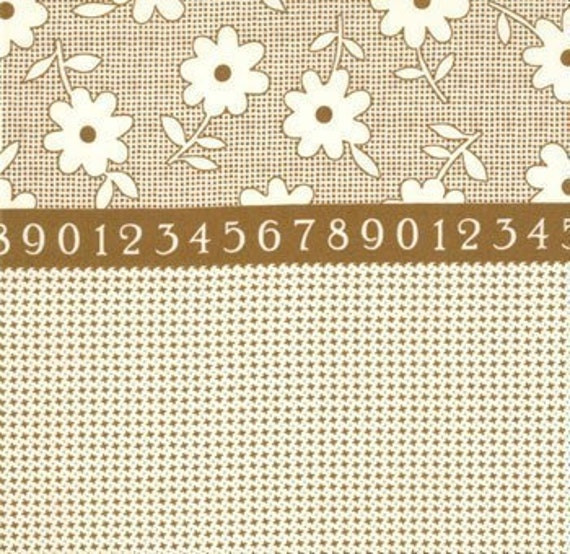 ON SALE---1 yard---Camp Basic in Brown, The Happy Campers Collection, Moda Fabrics