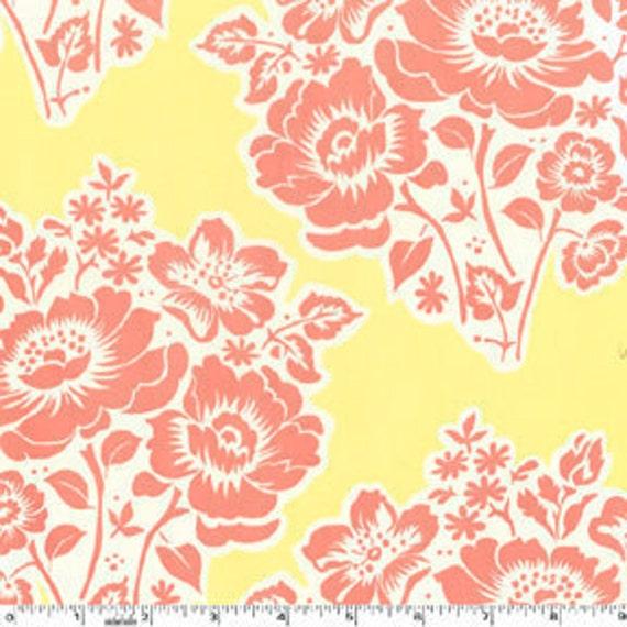SALE---1 yard---Fresh Cut Flowers in Poppy, Secret Garden, Sandi Henderson, Michael Miller Fabrics