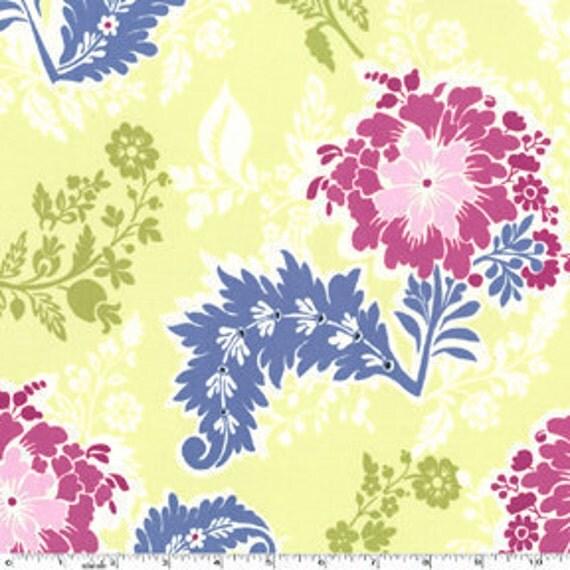 SALE---1 yard---Party Dress in Sprout, Secret Garden, Sandi Henderson, Michael Miller Fabrics