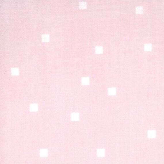 SALE--1 yard---Play Dot in Pink Lemonade, Sherbet Pips, Aneela Hoey for Moda Fabrics