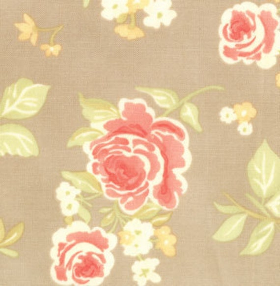 SALE--1 yard---Summer Bouquet in Slate, Strawberry Fields, Fig Tree Quilts for Moda Fabrics