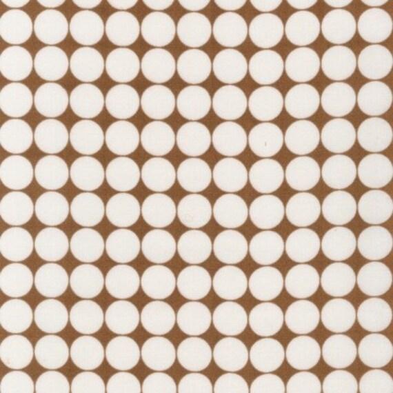 1 yard---Dots in Brown, Metro Living, Robert Kaufman Fabrics