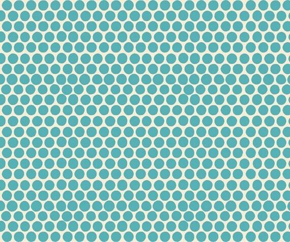 1 yard---Medium Dot in Mineral, Beach Mod Circa 60, 100 percent cotton organic fabric, Monaluna for Birch Fabrics