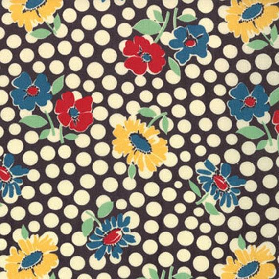 ON SALE---School Days---Recess in Graphite---1 yard--American Jane for Moda Fabrics