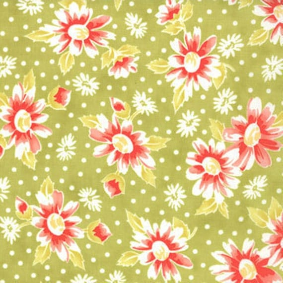 California Girl---Seaside Daisies in Sprout--1 yard--Fig Tree Quilts for Moda Fabrics