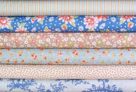 California Girl half yard bundle--6 pieces---3 yards total--Fig Tree and Company for Moda Fabrics
