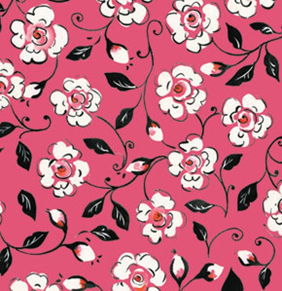 SALE---1 yard---Canterbury in Pink, London, Dena Designs, Free Spirit Fabrics