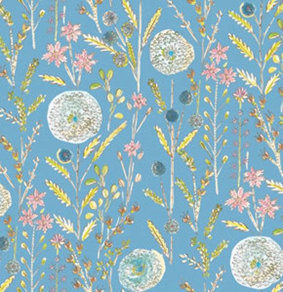 SALE---1 yard---Somerset in Blue, London, Dena Designs, Free Spirit Fabrics