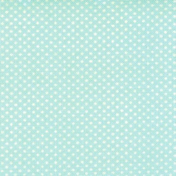 1 yard---Ruby Dot in Aqua, Ruby, Bonnie and Camille for Moda Fabrics