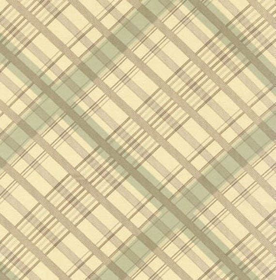 SALE---urban cowgirl--plaid in turquoise--1 yard--urban chiks by moda fabrics
