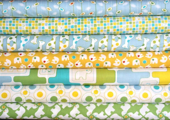 Savanna Bop fat quarter bundle--7 pieces---1-3/4 yards total--Thomas Knauer for Andover Fabrics