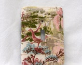 Bird- Vintage Bark Cloth - Light Switch Plate - Single Toggle