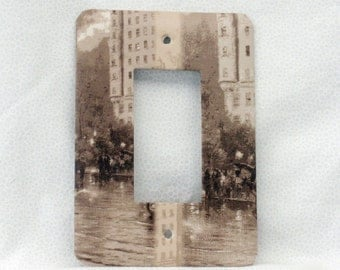 Street Scene -  Seipa Tones - Light Switch Plate - Single Rocker