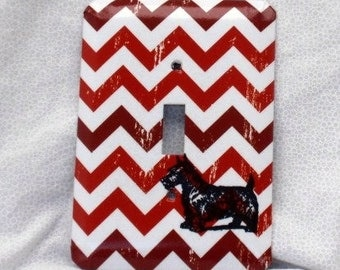 Scottie Dog- Light Switch Plate - Single Toggle