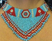 Seed Bead Peyote Stitch Necklace