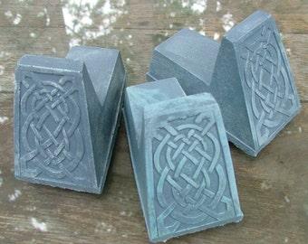 Celtic Knot Pot Feet (Bluestone)  Set of three, Irish Home Decor, Garden Art