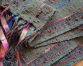 handwoven lightweight autumn olive scarf