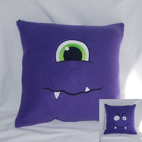 Two-Faced Pillow Cover: Cyclops and Vampire