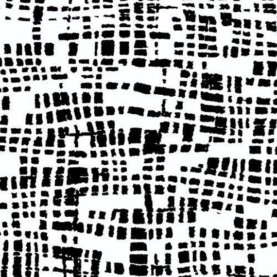 Kathy Hall Coffee Buzz Plaid Black and White - CLEARANCE 1 Yard