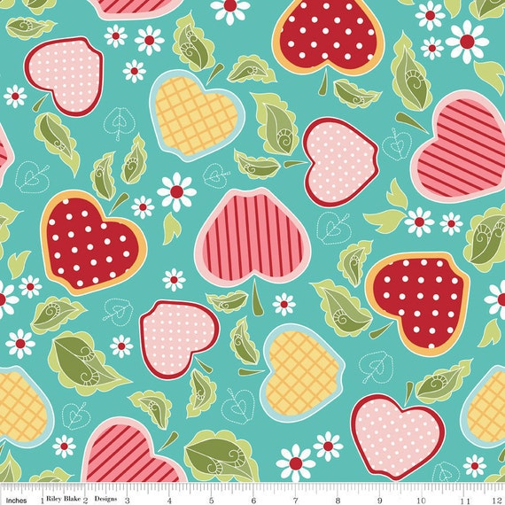 "Apple of my Eye"" Basket Blue - LAST 7/8 Yard"