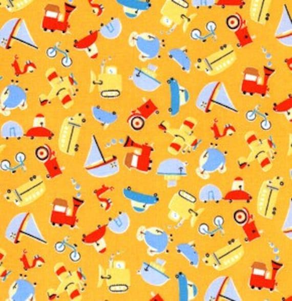 1\/2 Yard - David Walker - Oh Boy -Small Vehicles - Orange