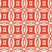 Anthology Fabrics Rings Tomato - 1/2 Yard