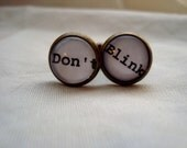 Don't Blink Cuff Links free shipping
