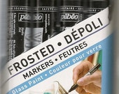 Pebeo FROSTED Glass PAINT Markers Set of 4
