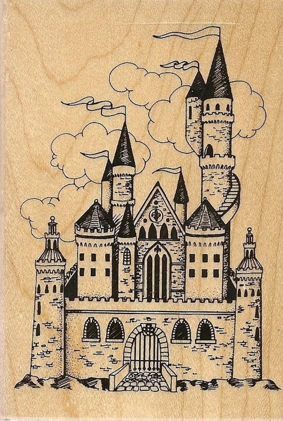 Inkadinkado Princess Fairy Castle Rubber Stamp By