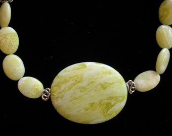 Lemon Jade Pendant Necklace