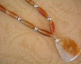 Carnelian Necklace and Pendant
